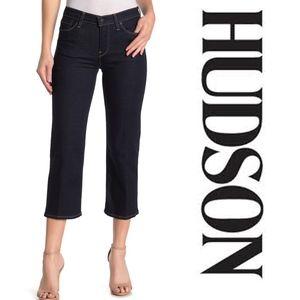 Hudson Stella Mid-rise Crop Straight Leg Jeans